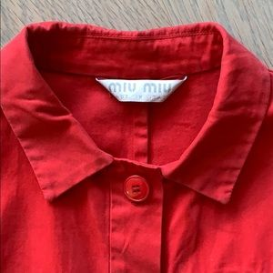 Miu Miu Jackets & Coats - Red Miu Miu jacket